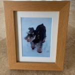 Oak picture frame with discreet integrated ashes compartment