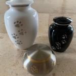 Beautiful paw print urns